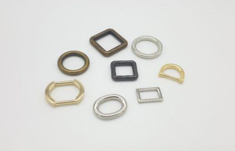 anelli per pelletteria varie finuture